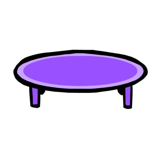 Coffee coffee tables and club penguin on pinterest for Purple coffee table