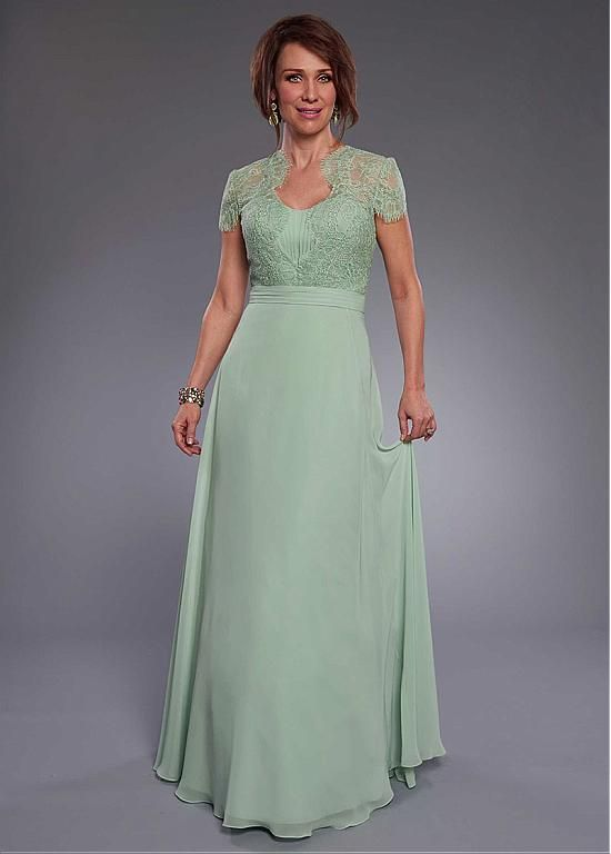 Buy discount Marvelous Lace & Chiffon Scoop Neckline Floor-length A-line Mother Of Bride Dress at Ailsabridal.com