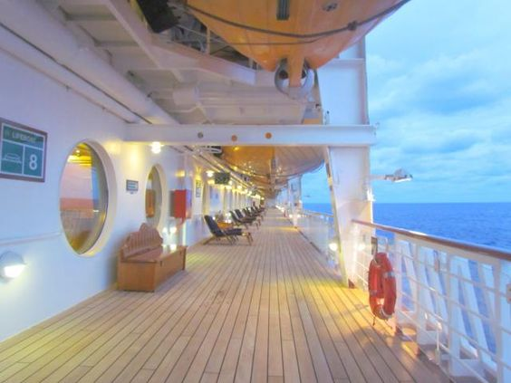 On Disney ships, my favorite place to steal away with a good book is vintage-style Deck 4, a low-key haven with mahogany loungers and shuffleboard courts.