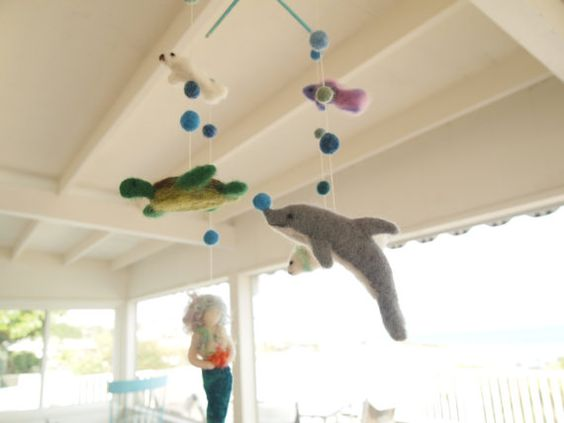 images about Needle Felt Mobile Mobiles