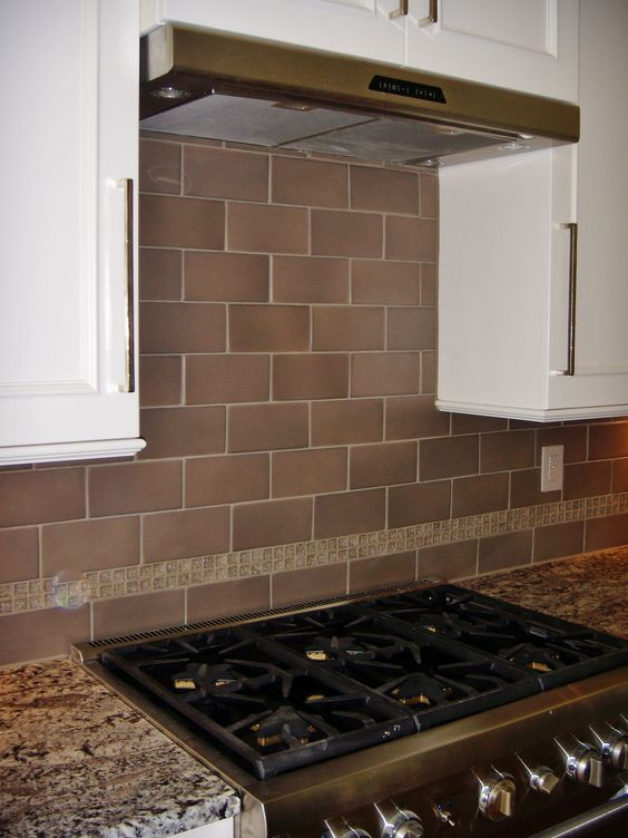kitchens with glass tile backsplash 4x8 porcelain tile with glass crackle accent at 8791