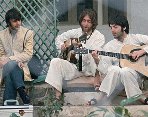 the beatles in india | The Beatles in India.