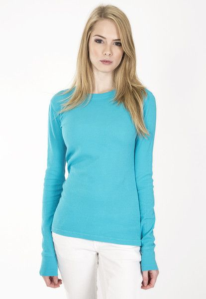 """Ladies long sleeve waffle thermal. www.jsapparel.net Enter special code """" JSFRIENDS """" and get 20% off on purchase. Limited time only. All JS product made in USA."""