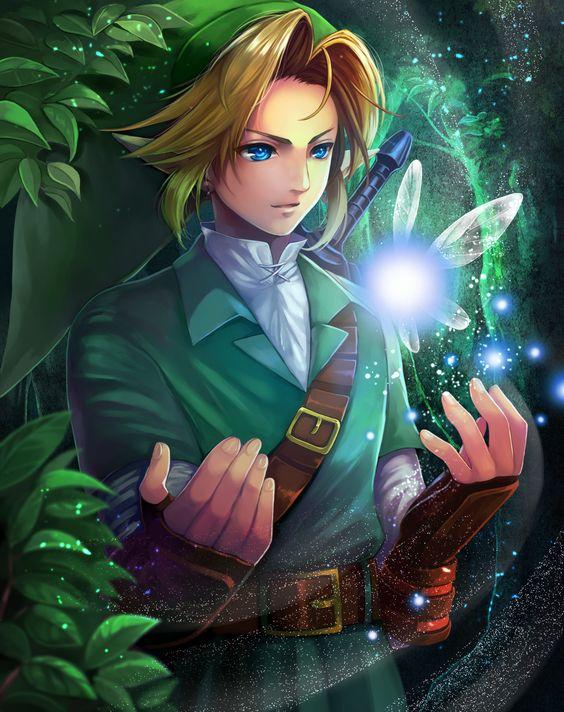 Link & Navi - Legend of Zelda Ocarina of Time, pixiv