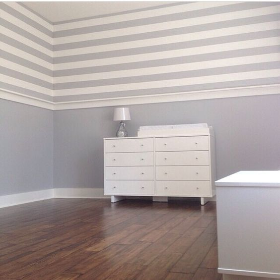 Best Beautiful Painted Stripes Sherwin Williams Lazy Gray And 640 x 480