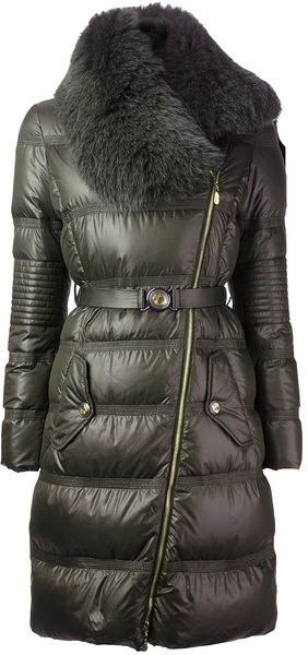 VERSACE Green Versace Collection Padded Coat- Lyst