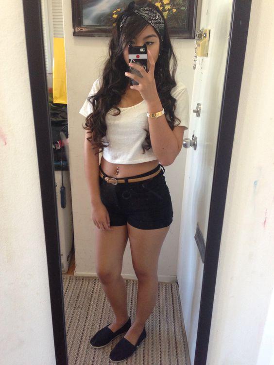 Summer Outfit: bandana(dollar store), white crop top(urban ...