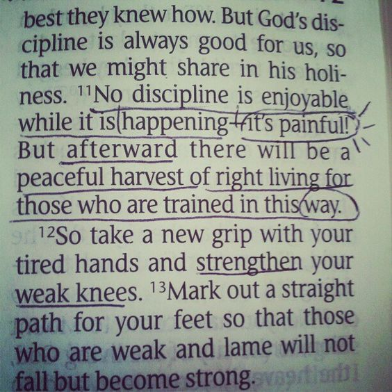 Hebrews 12:11-13