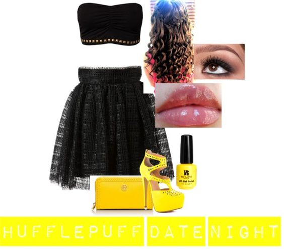 """Hufflepuff Date night"" by rdfpink on Polyvore"