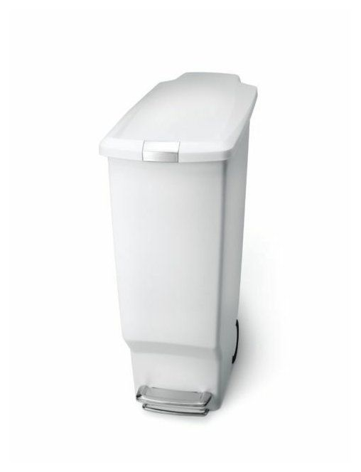Bathroom Trash Can White Plastic Garbage Can Garbage Can Ideas Garbage Can Garbagecan White Plastic Step T In 2020 Bathroom Trash Can Trash Can Garbage Waste