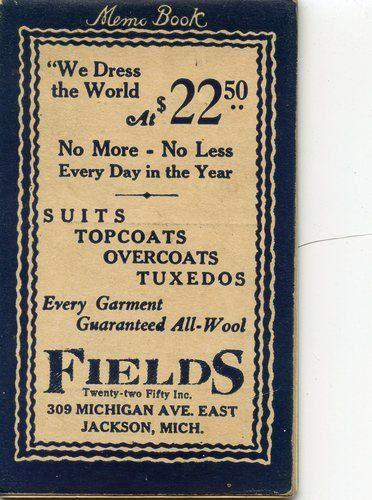 Advertisement from Fields