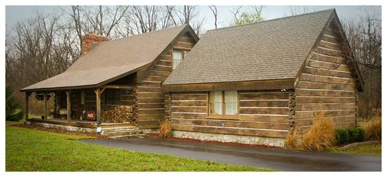 Concrete log siding would love to redo the outside of our for Concrete log cabins