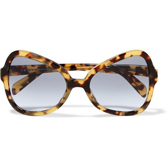 Prada Round-frame acetate sunglasses (5,715 MXN) ❤ liked on Polyvore featuring accessories, eyewear, sunglasses, tortoiseshell, tortoiseshell glasses, round frame sunglasses, round sunglasses, prada sunglasses and round tortoise sunglasses