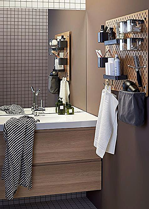 Pegboard Ideen Mit Pfiff Ikea Pegboard Ikea Hack Bathroom Bathroom Hacks