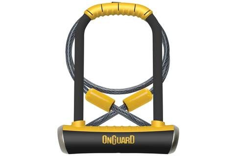 Onguard Pitbull D Lock With Cable D Lock White Beams Cycle Store
