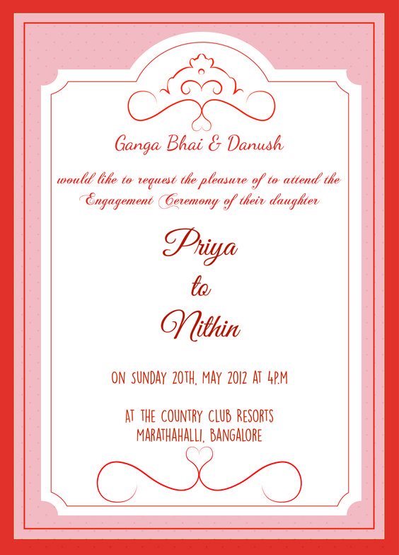 Engagement ceremony invitation card with wordings Check it out - engagement invitation matter