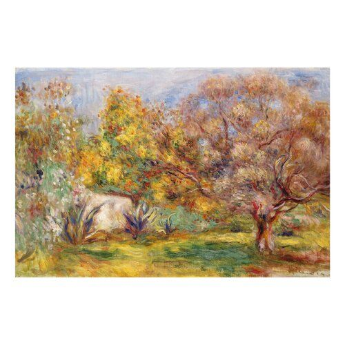 Garden With Olive Trees By Pierre Auguste Renoir Painting On Glass East Urban Home Size 40 Cm H X 60 Cm W Renoir Paintings Painting Prints Painting