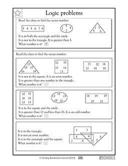 Printables Enrichment Math Worksheets 3rd grade 4th math worksheets logic problems the secret in this mental worksheet your child reads clues to find number