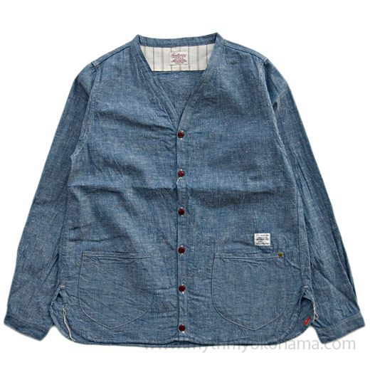 "Indigo chambray ""Shirts-Cardigan""  / ANACHRONORM"