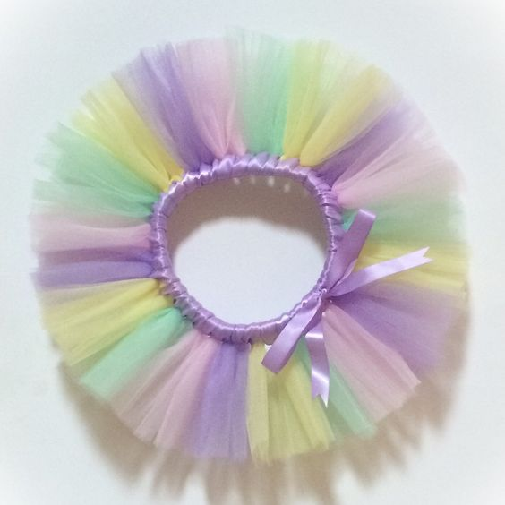 How perfect is this tutu? I love the colors!! It's perfect for bday parties, special occasions, and ballet recitals!