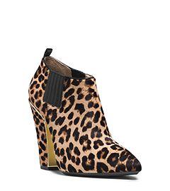 Lacy Leopard cheveux veau Bottines par Michael Kors