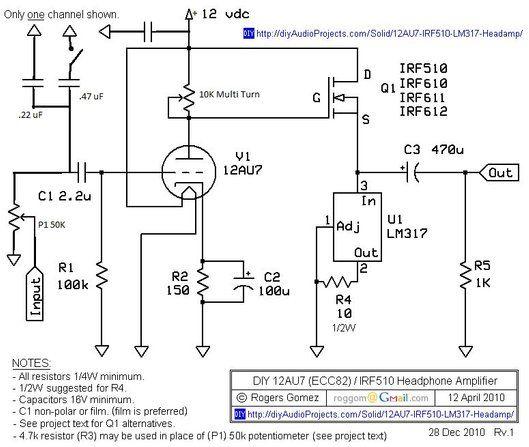 Picture Of The Circuit Headphone Amp Headphone Amplifiers Headphone