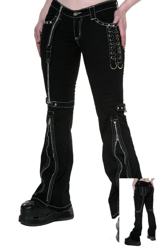 Luxury Home Gt Gothic Gt Black Two Wear Gothic Punk Pants For Women