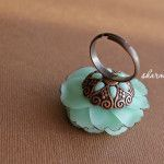 Polymer clay flower ring tutorial as posted by Kollika