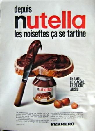 publicit nutella nutella pub r tro ferrero cooking book pinterest nutella et art. Black Bedroom Furniture Sets. Home Design Ideas