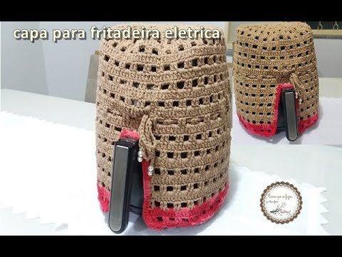 Capa de croche para fritadeira eletrica