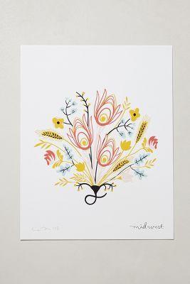 Botanical Print by Illustrator & Graphic Designer Caitlin McClain - Anthropologie