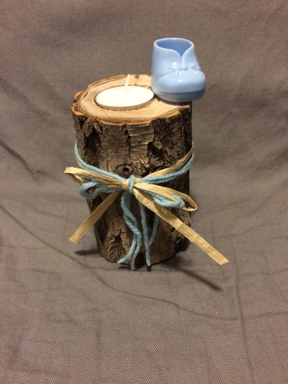 DIY Tea light candle holder , inexpensive and fun centerpiece for a more rustic look