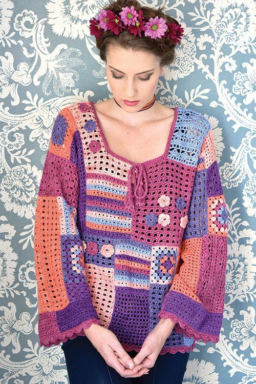 Crochet a charming Gypsy top