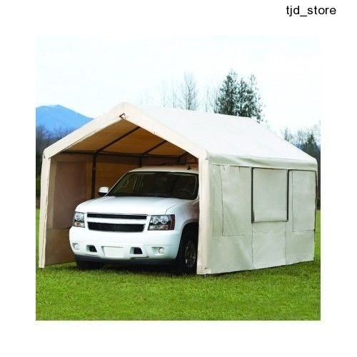 10 x 20ft Garden Marquee Garage Shelter Awning Gazebo Car Port Cover Car Canopy | Stuff to Buy | Pinterest | Car canopy and Portable garage  sc 1 st  Pinterest & 10 x 20ft Garden Marquee Garage Shelter Awning Gazebo Car Port ...