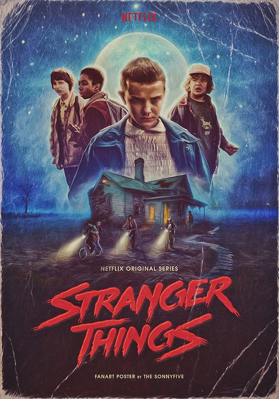 Stranger Things poster by The Sonnyfive on Behance: