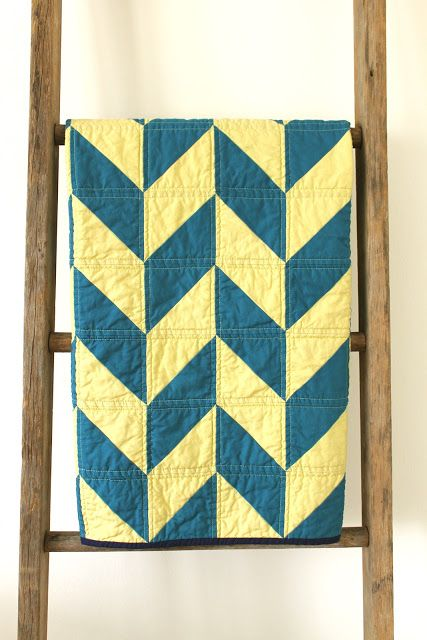 herringbone quilt. Use the half-hexie template and the same instructions as the braided batique pattern.
