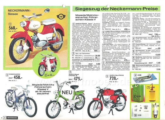 simson mopeds ddr im neckermann katalog brd aus ost sch tze dem vergessen entgegen. Black Bedroom Furniture Sets. Home Design Ideas