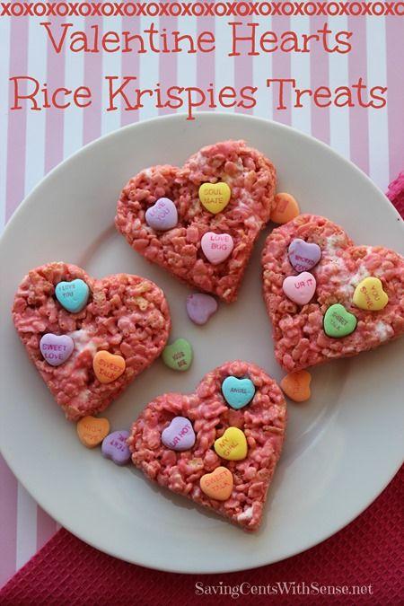 Valentine Hearts Rice Krispies Treats