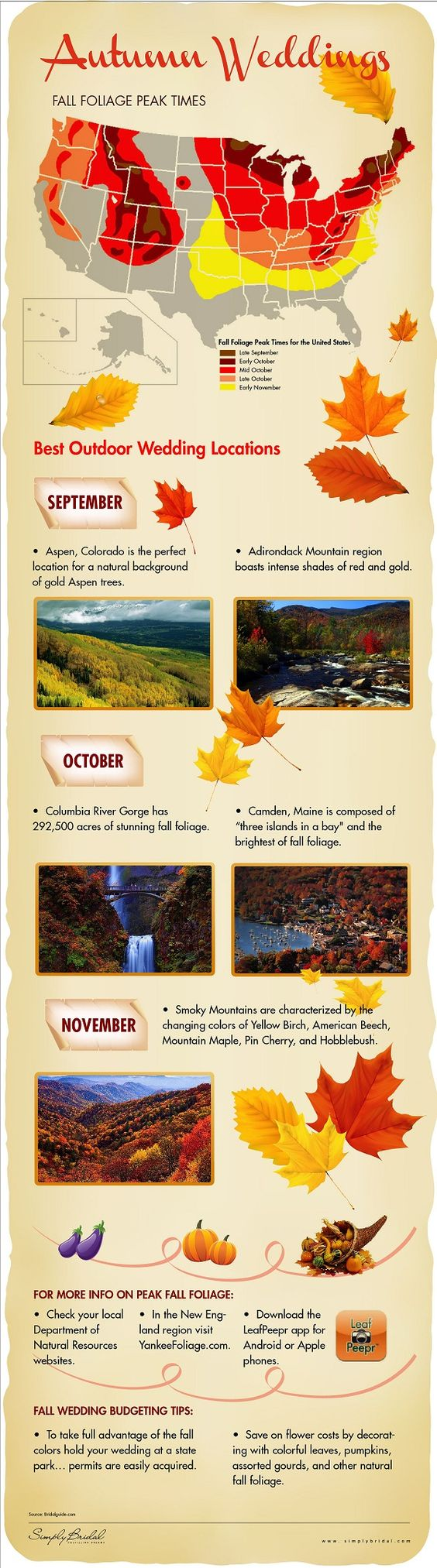 Autumn wedding destinations! (Diamonds, Engagement Rings, and Fine Jewelry at www.brilliance.com)