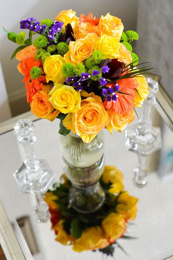 Summer Flowers. I love mixing vibrant colors!