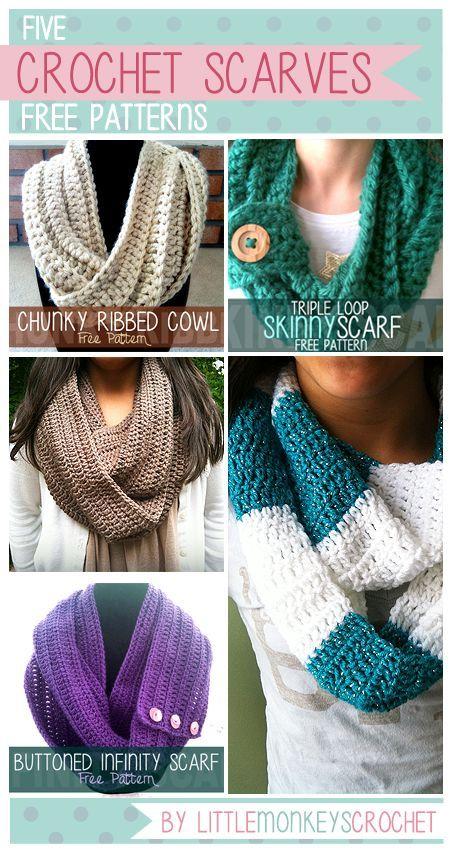 5 Free Fall / Winter Scarf Crochet Patterns by Little ...