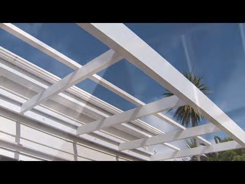 How To Install Corrugated Polycarbonate Roofing Mitre 10 Easy As Youtube Building A Pergola Pergola Attached To House Pergola