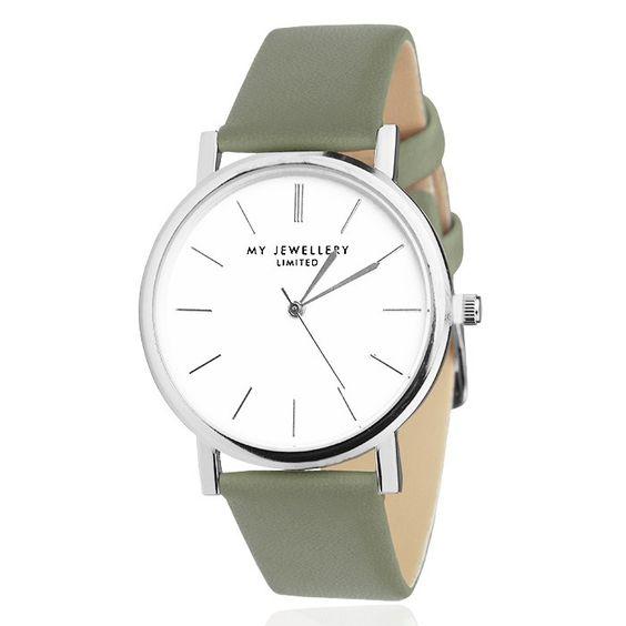 Minimalistisch horloge kaki, horloges