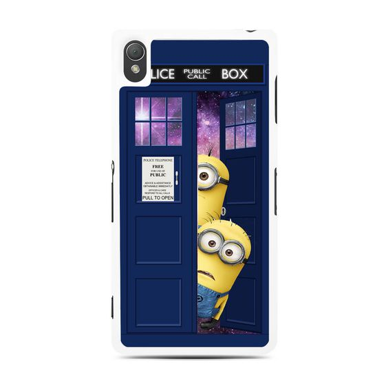 Despicable Me In Dr Who Tardis Sony Experia Z3 Case