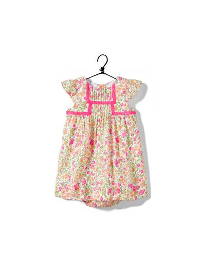 dress with flowers and lace trim - Collection - Baby girl (3-36 months) - Kids - ZARA