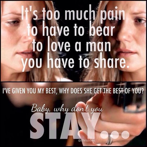 #Love this #song. #Stay by #Sugarland. So #honest and #true. It's not only about #cheating, but finding the #strength despite vulnerability, to do what needs to be done... No matter how much it #hurts. Full of #emotion and #pain, yet #growth:
