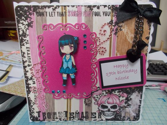 """card made for a """"Rock Chick"""""""