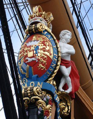 "rarecollection.ch+HMS+Victory+proue+""HONI+SOIT+QUI+MAL+Y+PENSE"""