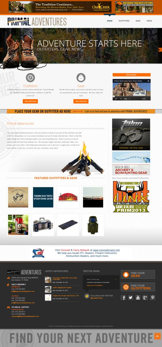 Primal Adventures is dedicated to delivering only the best in outdoor gear, outfitters and adventure excursions all in one place. A Silver American Advertising Award winner!
