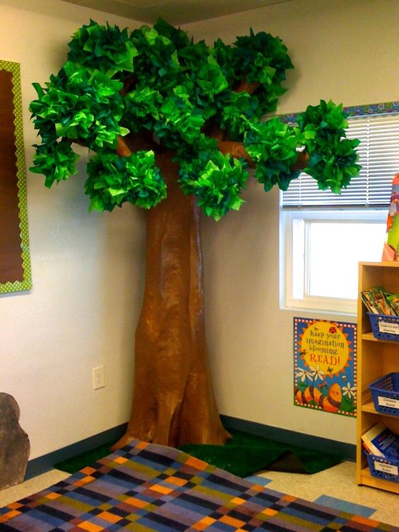 3-D Tree Nothing makes a classroom cozier than a tree!
